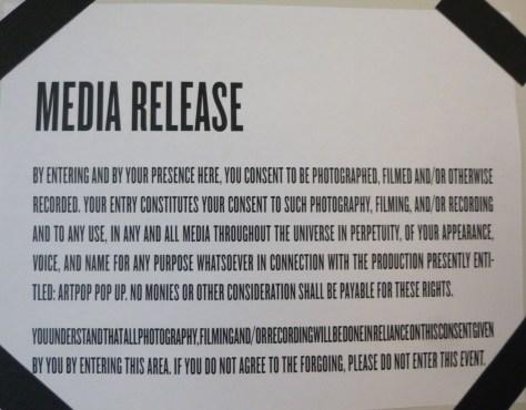 Lady Gaga Media Release