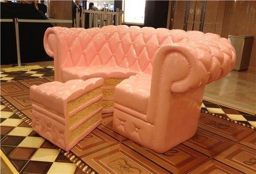 Cake Sofa and Slice Ottoman