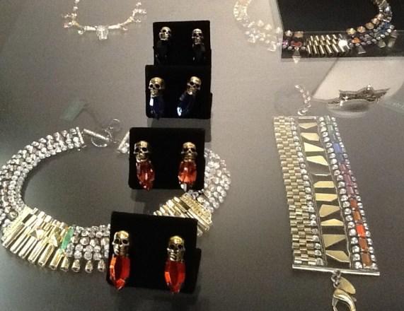Jewel Tone Skull Earrings