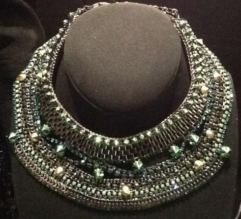 Green Bridal Collar Necklace