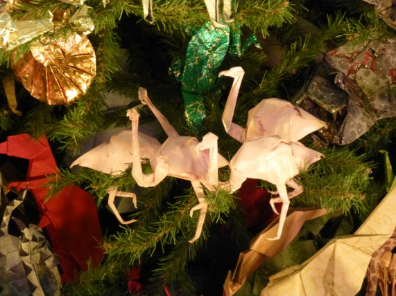 Origami Flamingos and T Rex