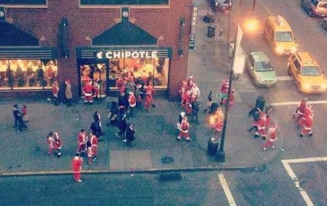 SantaCon At 2012 Chiptole