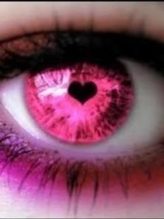 Hear Shaped Pupil on Pink Iris