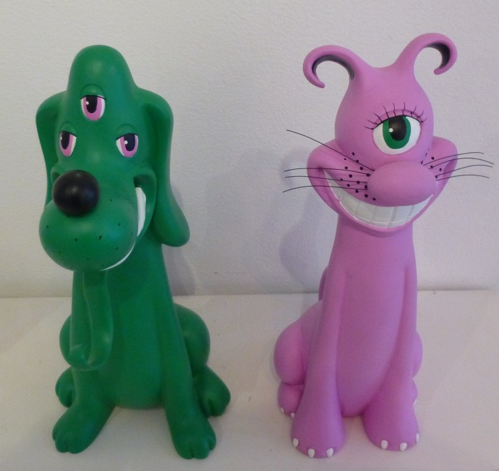 Dog and Cat By Kenny Scharf