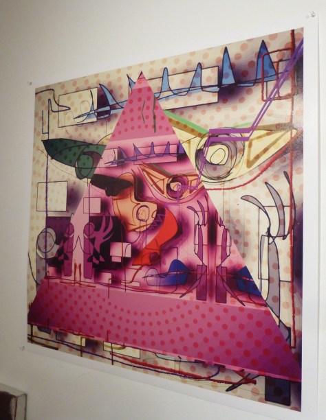Pink Triangle Print By Joseph Arthur