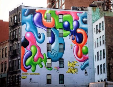 Kenny Scharf Wataah Wall