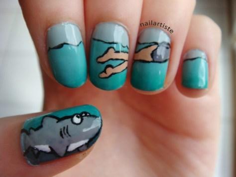 Shark Attack Manicure