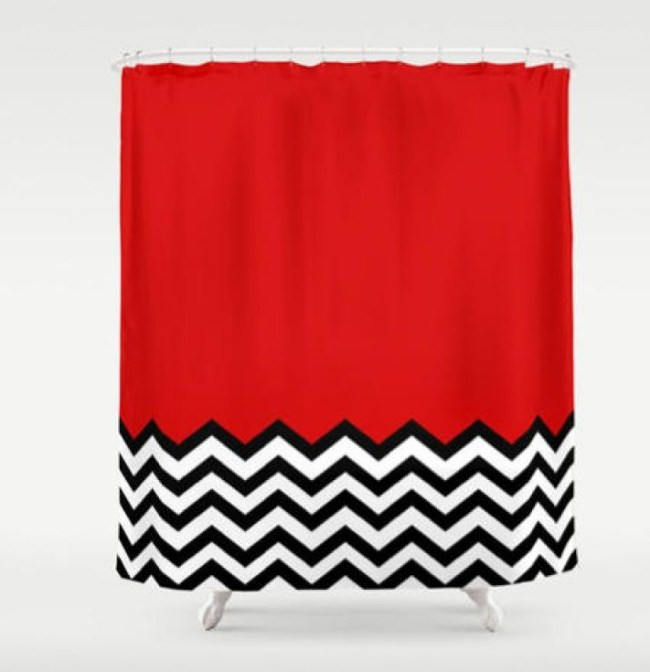 Twin Peaks Shower Curtain Night Club