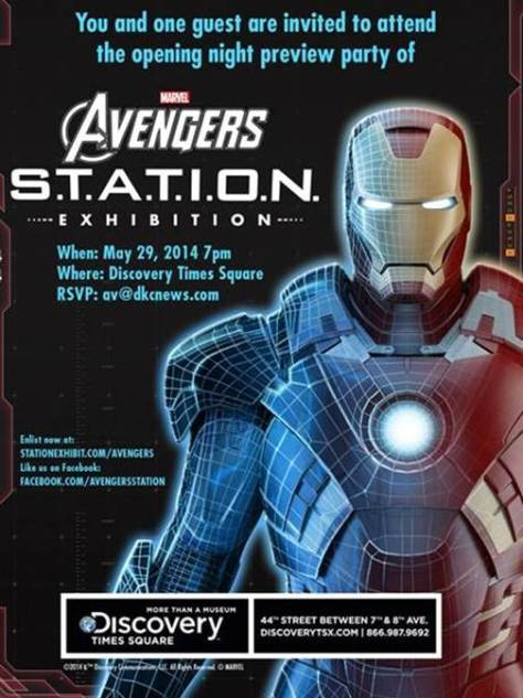 Avengers Station Party Invite