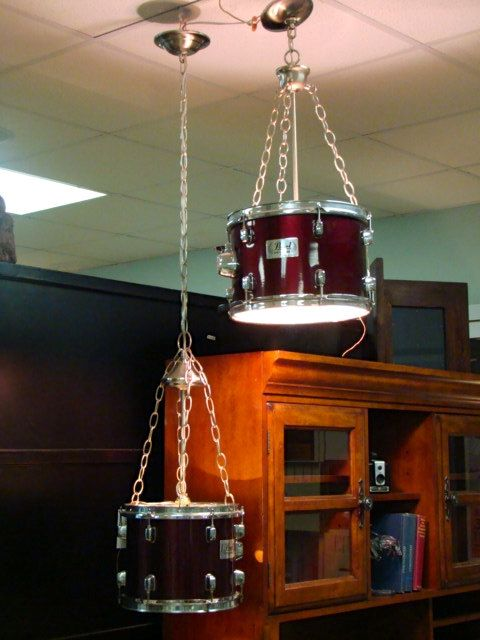 Hanging Drum Lamps