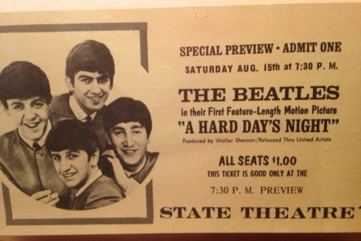 Hard Days Night Ticket Stub