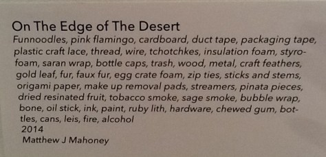 On The Edge of the Desert By Matthew J. Mahoney