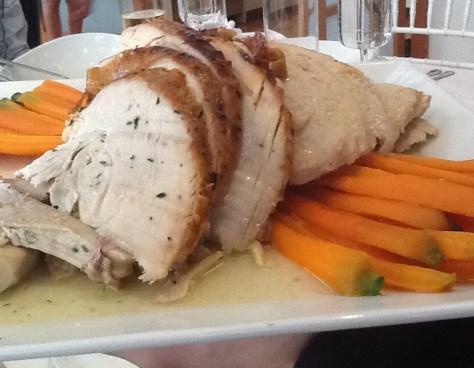 Sliced Turkey on Platter
