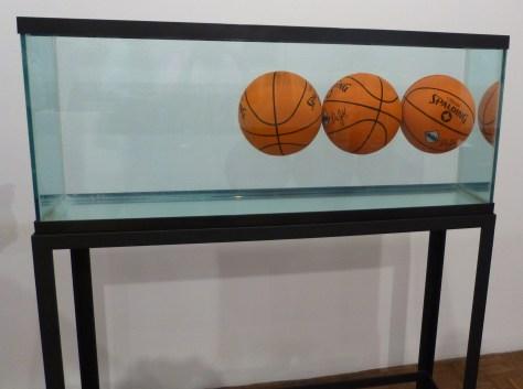 Basketballs in a Tank