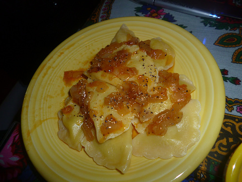 Potato Pierogies with Onions