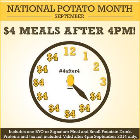 National Potato Month Deal