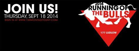 Running of Bulls Banner