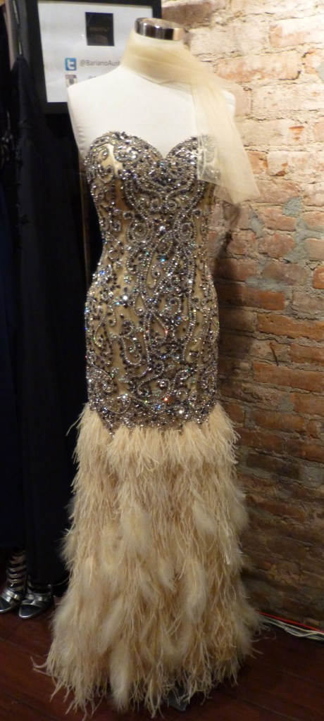 Beaded and Feather Gown By Forever Unique London