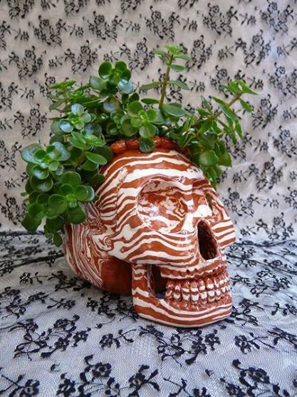 Bacon Skull Planter