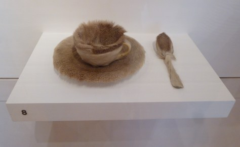 Fur-Covered Cup, Saucer and Spoon