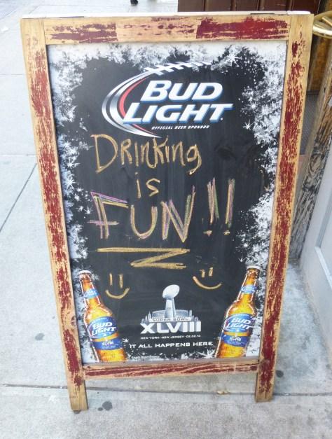 Drinking is Fun Sign