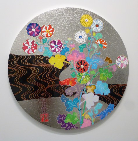 Round Floral on Silver