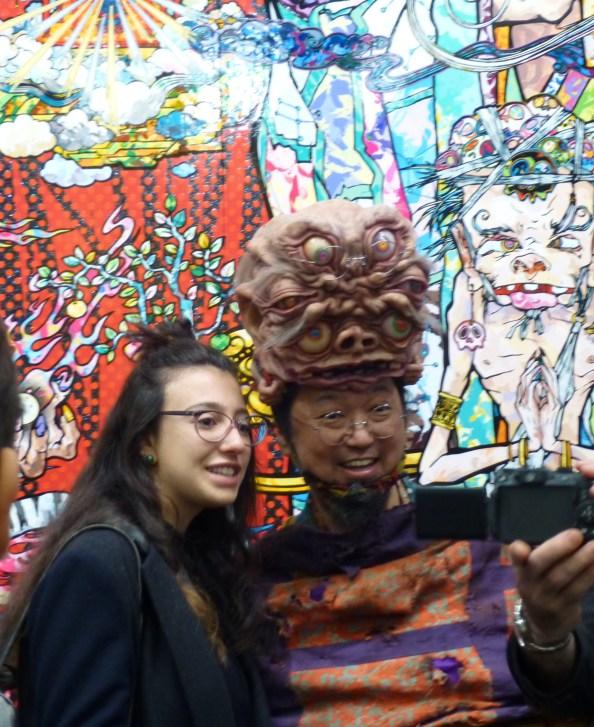 Murakami With Fan