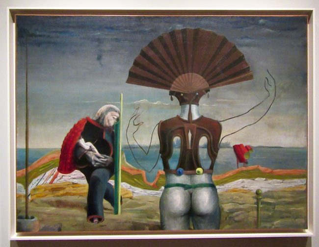 Max Ernst Woman Old Man Flower