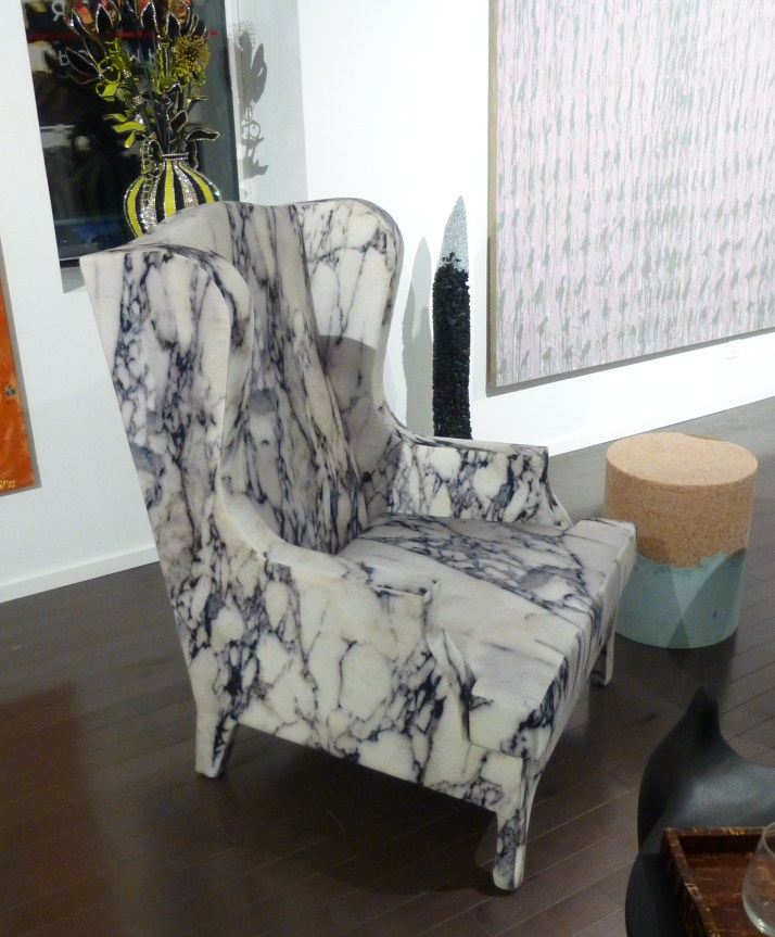 Upholstered Chair That Looks Like Marble