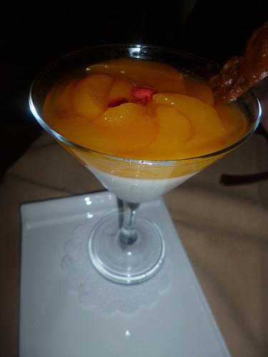 Peach Panacotta