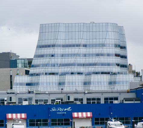 IAC Building from the Water