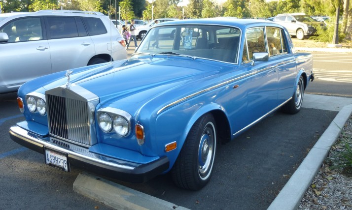 Blue Rolls Royce Front