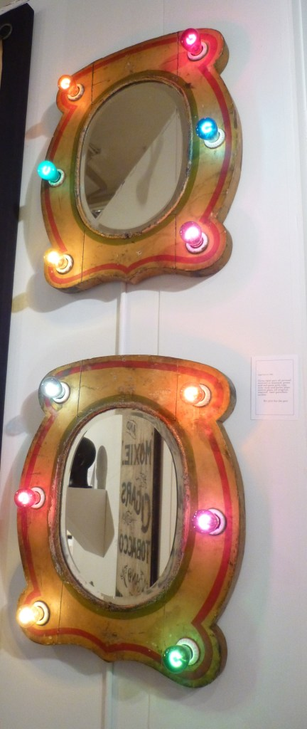 Pair of 1920s Carousel Mirrors