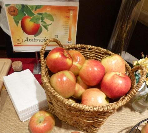 Ambrosia Apples Display