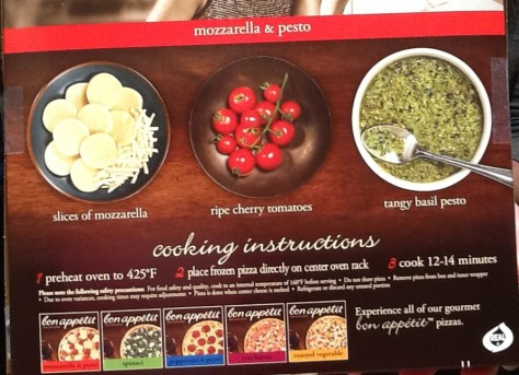 Bon Appetite Pizza Ingredients