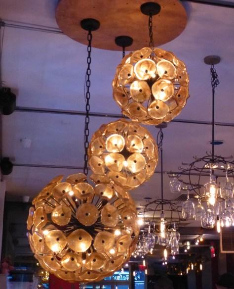 Midcentury Globe Ceiling Lamp