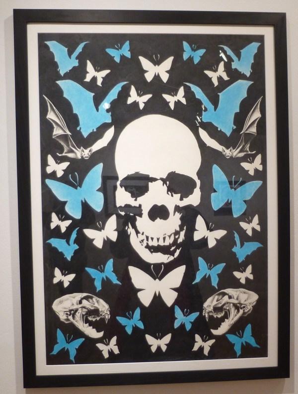 Skull Blue Butterflies