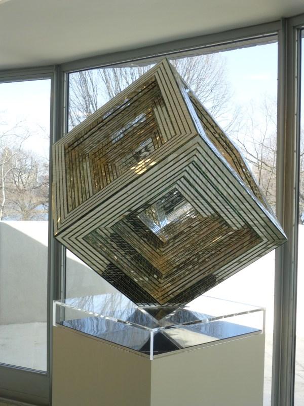 Mirror Cube Sculpture