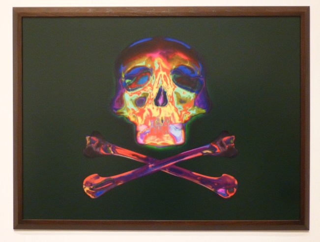 Psychedelic Skull and Crossbones