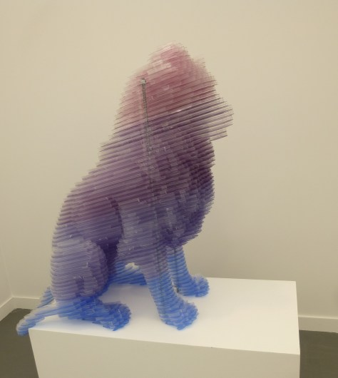 Matthew Darbyshire CAPTCHA No. 31 Sitting Lion