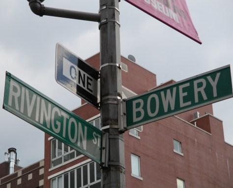 Rivington and Bowery