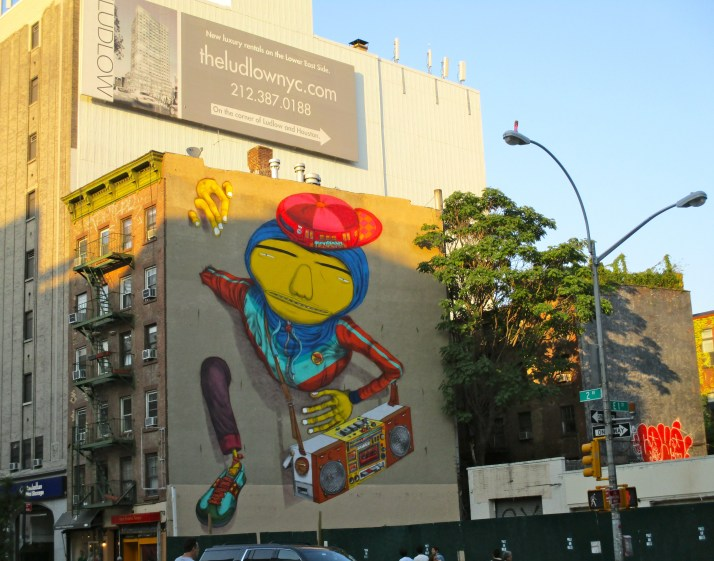 Os Gemeos Mural 2nd Ave