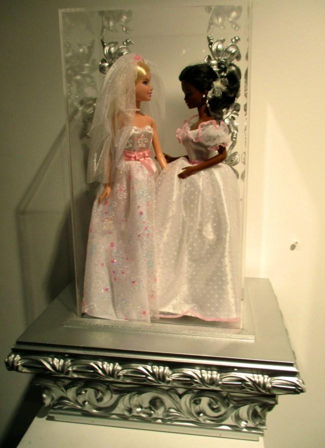 White and Black Barbie