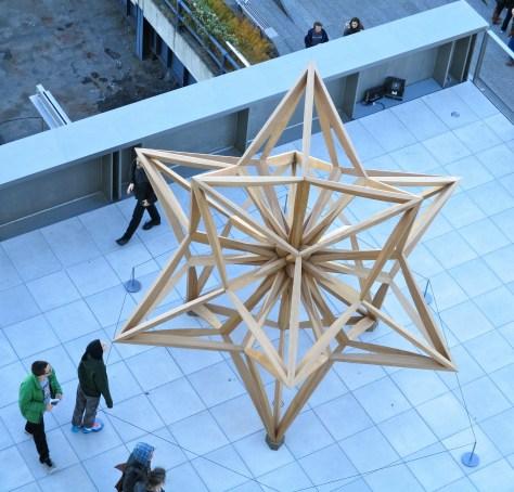 Wooden Star Sculpture