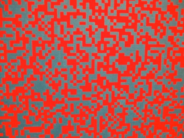 Random Distribution of 40,000 Squares Detail