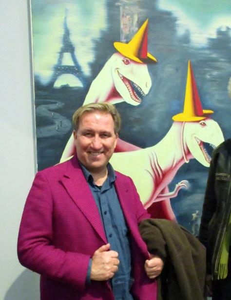 Mark Kostabi with Adios Amigos Album Art