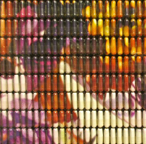 Colored Pills Detail