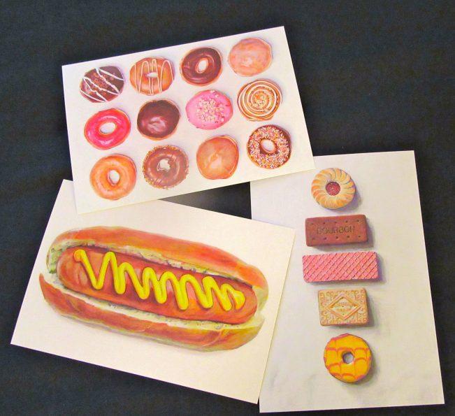 Food Art Cards By Joel Penkman