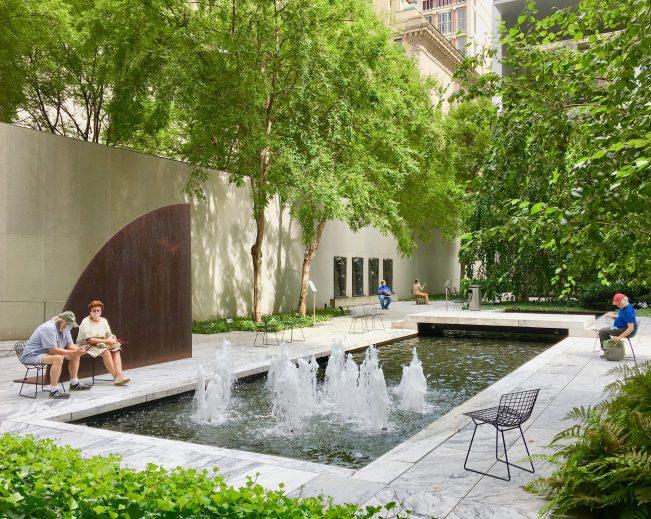 pool fountain rockefeller sculpture garden photo by gail worley