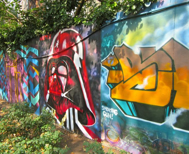 Darth Vader Mural Installation View